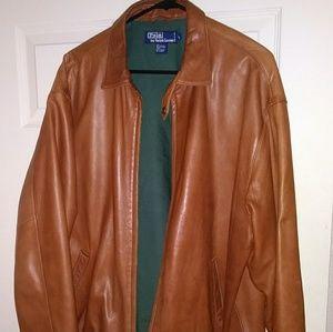 Lambskin RL soft leather brown bomber
